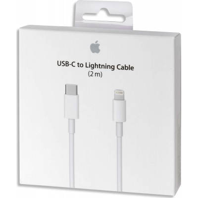 Apple Regular USB 2.0 Cable USB-C male - Lightning Λευκό 2m (MKQ42Z)