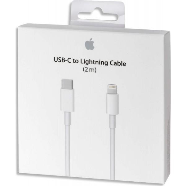 Apple Regular USB 2.0 Cable USB-C male - Lightning Λευκό 2m (MKQ42Z)