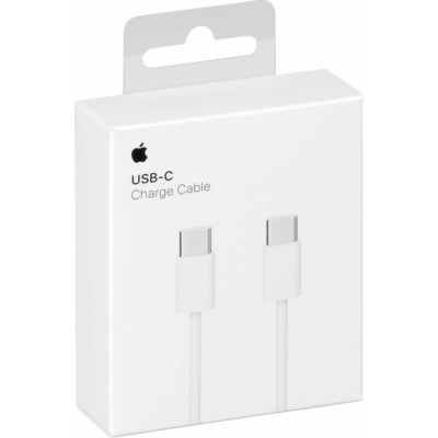Apple Regular USB 2.0 Cable USB-C male - USB-C female Λευκό 1m