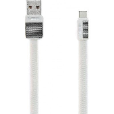 Remax Flat USB 2.0 Cable USB-C male - USB-A male Λευκό 1m (Platinum)