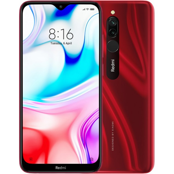 Xiaomi Redmi 8 (4GB/64GB) Dual Sim (Ελληνικό menu-Global Version) Ruby Red EU