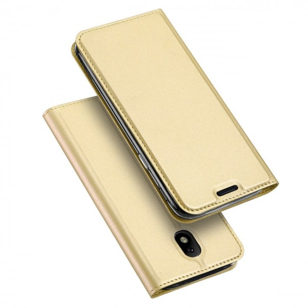 Case Flip Cover Gold για Samsung Galaxy J3 2017