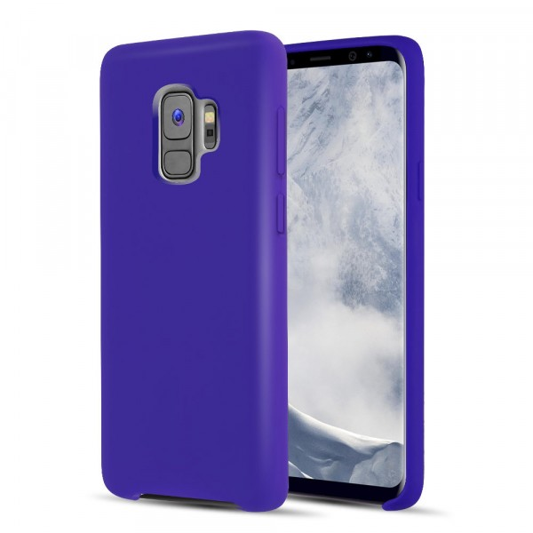 Premium Silicone Case Purple Galaxy S9