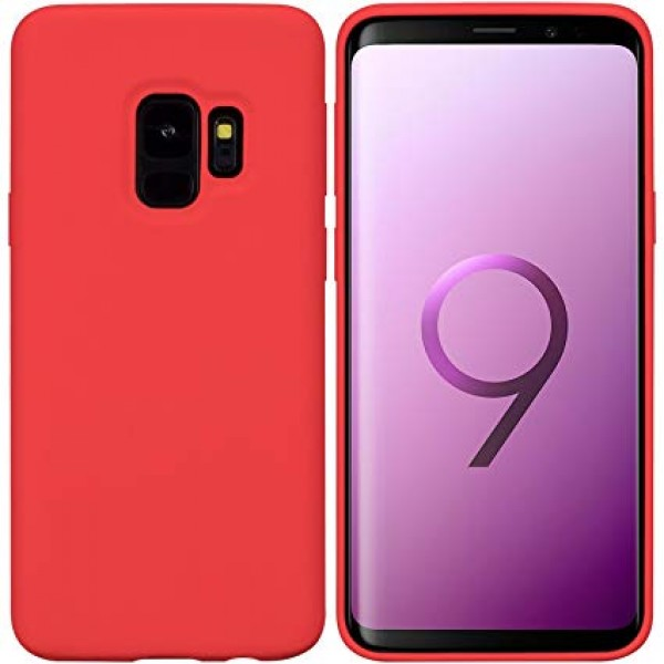 Premium Silicone Case Red Galaxy S9