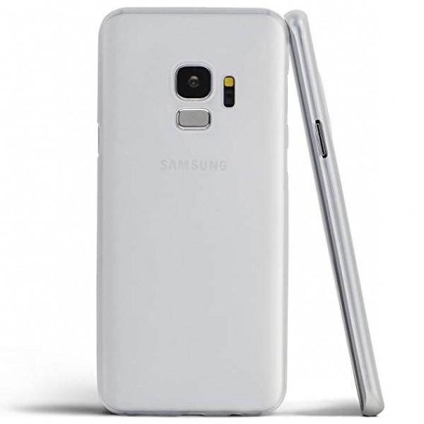Premium Silicone Case White Galaxy S9