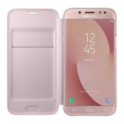 Case Flip Cover Pink για Samsung Galaxy J530 (2017)
