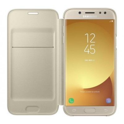 Case Flip Cover Gold για Samsung Galaxy J530 (2017)