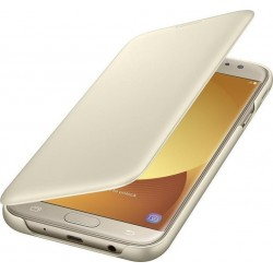 Case Flip Wallet Cover Gold για Samsung Galaxy J730 (2017)