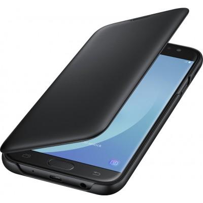 Case Flip Wallet Cover Black για Samsung Galaxy J730 (2017)