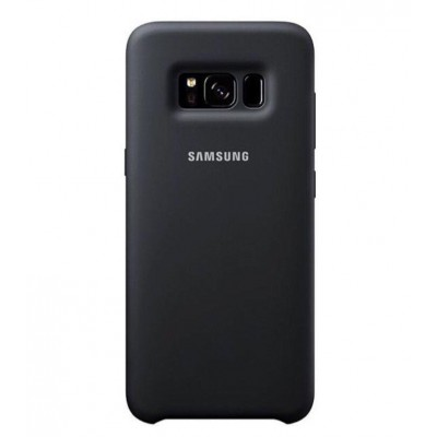 Premium Silicone Case Black Galaxy S8