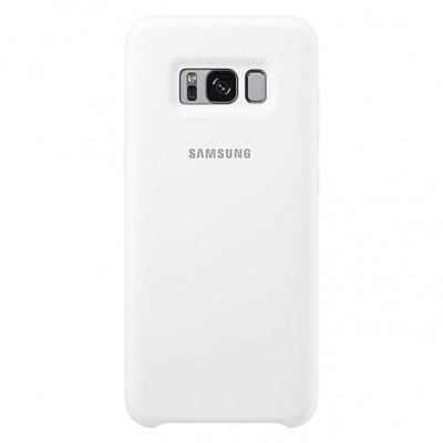 Premium Silicone Case White Galaxy S8