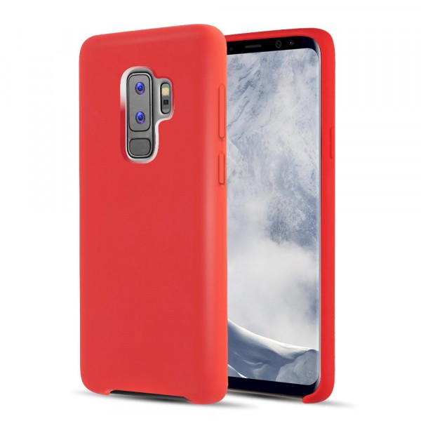 Premium Silicone Case Red Galaxy S9 Plus