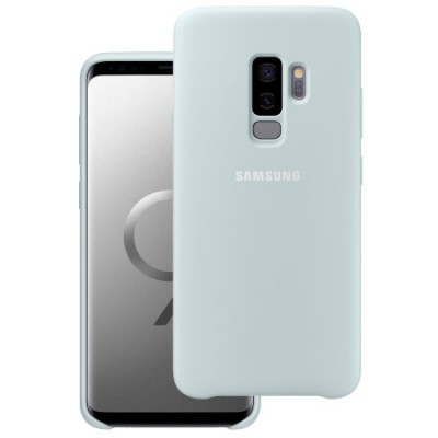 Premium Silicone Case White Galaxy  S9 Plus