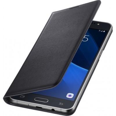 Case Flip Cover Black για Samsung Galaxy J7 2016